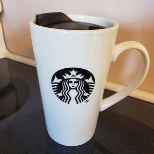 Starbucks 14oz ceramic travel mug with lid